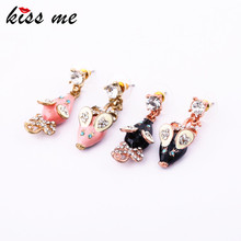 Fashion accessories bow small mouse asymmetrical Drop earring Factory Wholesale(China)