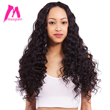 Maxglam Peruvian Virgin Hair More Body Wave Unprocessed Natural Color Human Hair Bundles Extension Free Shipping(China)