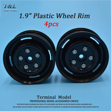 "4pcs 1/10 Black/White ABS Plastic 1.9 Wheel Rim 1.9"" Plastic Wheel Hub For RC4WD CC01 Truck ROCK CRAWLER  D90 Scx10"