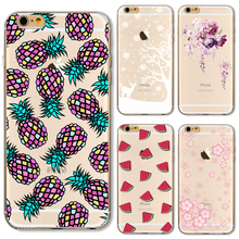 Soft TPU Cover For Apple iPhone 5 5S SE 6 6S 6Plus 6S+ 7 7+ Cases Case Phone Shell Wholesale Price Colour Pineapple Sweet Fruits