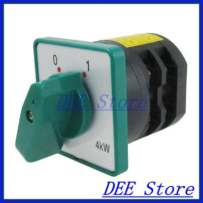 4KW 20A 0-1 on/off Position Rotary Combination Switch HZ5D-20/4. L03<br><br>Aliexpress