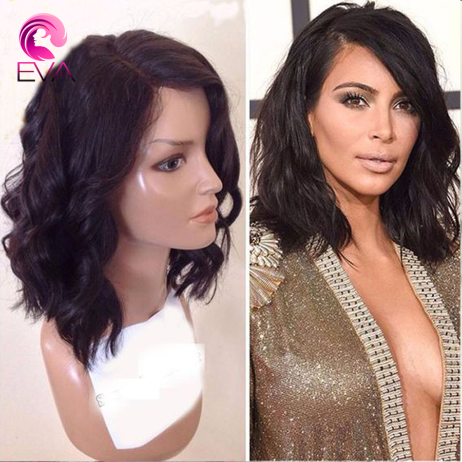 7A Full Lace Human Hair Wigs Brazilian Virgin Hair Bob Front Lace Wigs For Black Women With Baby Hair Wavy Short Human Hair Wigs<br><br>Aliexpress