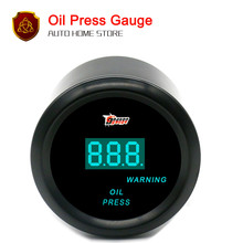"52mm 2"" Black Car Motor Digital Blue LED Oil Pressure Gauges Warning Gauge(China)"