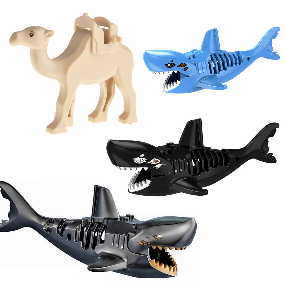 Mini Diy Small Bricks Animal Shark Figures Model Compatible With Legoingly