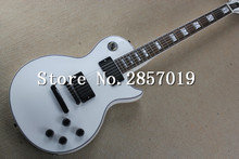 New arrival Custom shop Les Alpine white electric guitar,Black hardware LP guitar,Free shipping