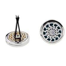 Air Vent Freshener 10 Style Stainless Car Essential Oil Diffuser Locket design foran aromatherapy oil Sep 21(China)
