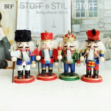 buf 4pcsset home decoration accessories christmas decoration wooden doll warrior christmas gift colorful wooden soldier dolls