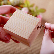 Wooden Mini Music Box DIY Mechanical Hand Crank Craft Music Box Movement Fur Elise Melody 18 Notes Music Boxes CA1T