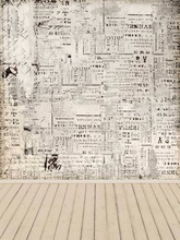 Old News Paper Wall Photography Background Light Wood Floor Backdrops Newborn Wedding Photographic Background Camera fotografia(China)