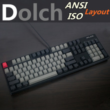Cool Jazz Black Gray mixed Dolch Thick PBT ANSI ISO layout 104 87 61 Keycaps OEM Profile Key caps For MX Mechanical Keyboard