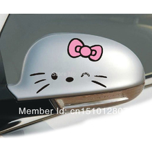 2 X Funny Hello Kitty Car Accessories Cute Car Sticker Decal for Toyota Ford Focus Vw Skoda Polo Golf Opel Peugeot Bmw Audi Kia