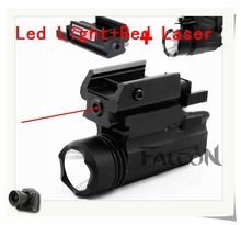 Hot Red Dot Laser Sight Tactical LED Flashlight 2in1 Combo Hunting Accessories for Pistol Guns Glock 17,19,20,21,22,23,30,31,32