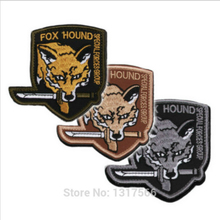 80*80mm FOX HOUND Embroidered Patches Badge Military Tactical Clothing Backpack Baseball Caps Badges Armband(China)