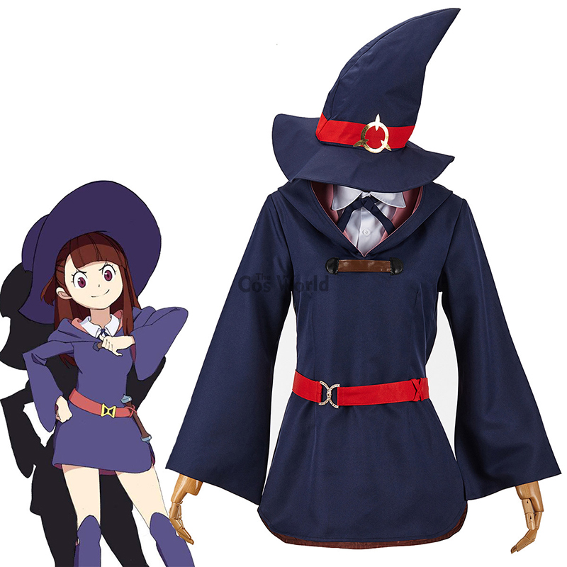 Little Witch Academia Cosplay Outfit Uniform Akko Sucy Lotte Diana Costume Anime