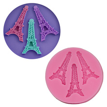 3D Eiffel Tower Cake Decorating Tools Baking Fondant Silicone Mold Craft Soap/Chocolate Mould High Quality