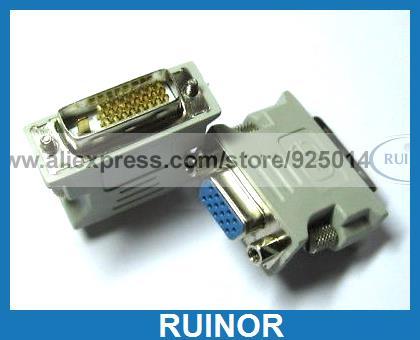 8 Pcs Connector for Male DVI to Female SVGA VGA DB15 24 1<br><br>Aliexpress