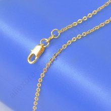 JEXXI 2016 New Top  Quality  Yellow Gold Filled Chains Necklace 5PCS Lot -  Stamped For Pendant Chain With Lobster Clasps 18""