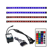 ALSEYE Remote RGB LED Strip Light 4 Channels Computer Case RGB Fan Controller and 30cm Sislicone Magnetic Strips (Duty free)