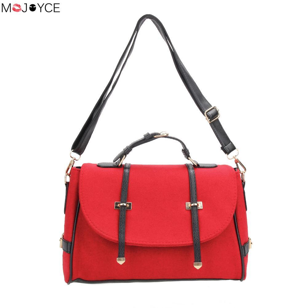 British Style Nubuck Leather Women Handbag Fashion Women Shoulder Bag Vintage Briefcase Bag Small Crossbody Shoulder Bag Bolsa<br><br>Aliexpress