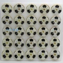 led badge Football flash brooch brazil fans soccer game souvenirs supplies 25pcs/lot(China)