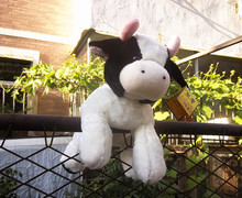 high quality goods Dairy cow plush toy,Christmas gift h38