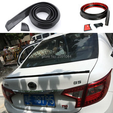 Free shipping top racing Style Automotive Universal Spoiler can be use for roof / hatch gate/ trunk / bonnet FIT for BYD 1.5M