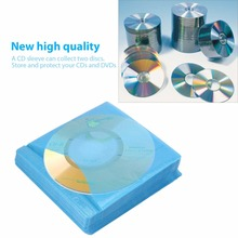 2017 Newest 100Pcs/set CD DVD Double Sided Cover Storage Case PP Bag Sleeve Envelope Holder Worldwide Hot Drop(China)