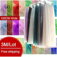 3 Meters/Lot Soft Mosquito Net Mesh Yarn Tulle Gauze Fabric Sewing Tutu Party Birthday Gift Wrap Wedding Decoration Patchwork