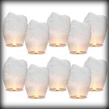 by dhl or ems 10000pcs White Sky Wishing Lantern Chinese paper Lantern Fly lights