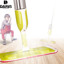 DARIS Multifunction Spin Mop Spray Water 360 Rotating Microfiber Magic Clean Floor Home Wood Floor Kitchen Household Tools(China)