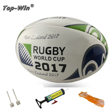 New 2017 Size 5# Rugby Ball Standard Ball For Match Training Balls Soccer american football with pump