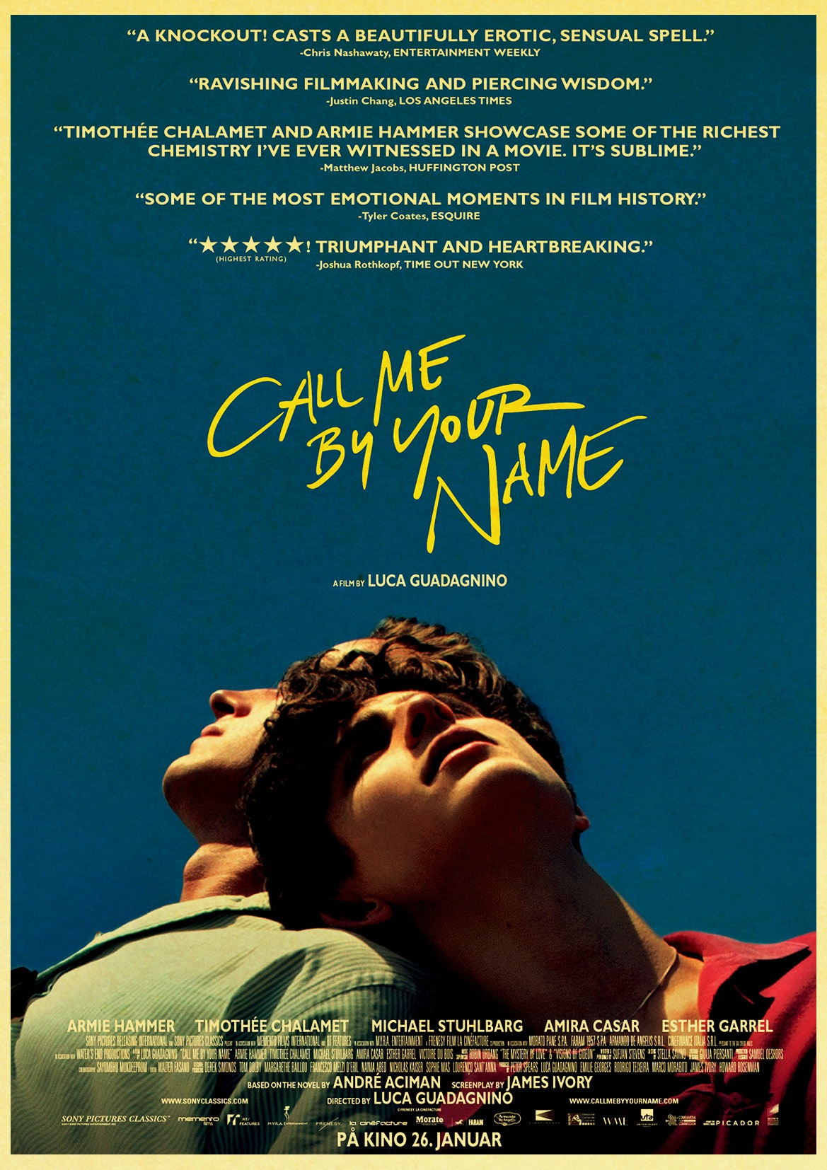 Y-97 Call Me By Your Name Movie Luca Guadagnino 2018 Hot Poster 21 24x36 27x40IN