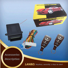 Car alarm system l open-ended box Central locking output of the key to enter the system car lock remote control