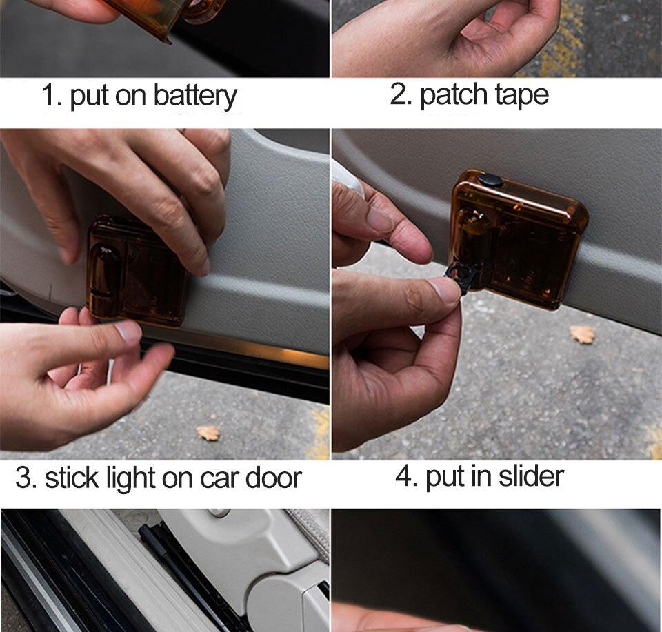 car door light welcome lamp auto decoration bulb car brand logo projector (18)