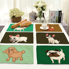 42*32cm Animal Dog 100 linen Napkins on the Table napkins Cat Sheep for decoupage Home decor Table Napkins Pig