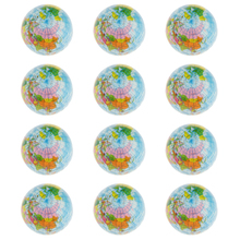 New Arrivals Set of 12 Solid World Map PU Sponge Ball Release Pressure Classic Toy Preschool School Educational Toy for Children