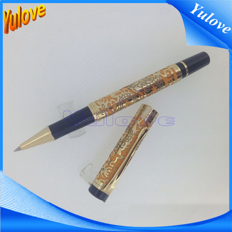 YuE6 New 2016 Jinhao Kawaii Roller Ball Pen For Writing Pen Promotional Lxuxury Gold High Quality Business Gift<br><br>Aliexpress