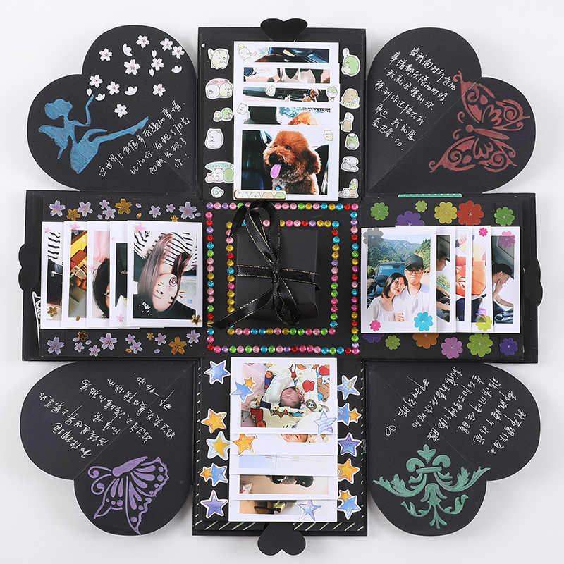Explosion Gift Box DIY Photo Album Storage Handmade Birthday Valentines With Kinds