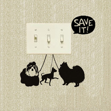 Wall Decals Dogs At The Exhibition Pets Animals Vinyl Light Switch Sticker Decor Art A3155(China)
