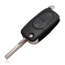 For Old VW Golf Polo Jetta Passat 2 Button Flip Remote Key Shell Fob Case Cover Takes CR1620/1616 Battery Hight Quality