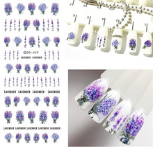 Flower Series Daisy Lavender Nail Sticker Unicorn Animal Series Ocean Cat Plant Transfer Sticker Manicure Nail Art Decoration(China)