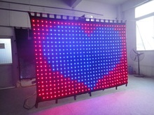 Free shipping 2*2m P100MM led vision curtain set with PC controller system