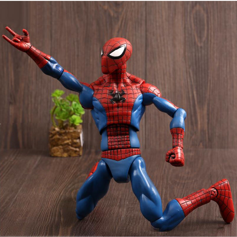 12 Inch  Large Spiderman 3D Doll Model Marvel Action Figure Boys Spiderman Kids Child Toys high quality<br><br>Aliexpress
