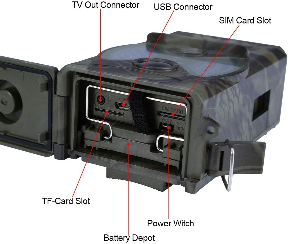 HC300M Trail Cameras 12MP 940nm NO Glow MMS GPRS Digital Scouting Hunting Camera Trap Game Cameras Night Vision Wildlife Camera (5)