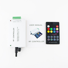 Led Music Controller for RGB controller with RF remote black 18 Key DC12V-24V Audio Sound input 3 Channel*4A 12A VR(China)