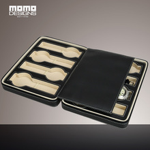 PU leather Watch box for 8 watches Portable Travel Watch packing box storage box zipper bag case