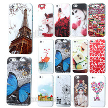 Fashion Case For Iphone 4 4s Women Eiffel Tower Cat Butterfly Flower Daisy Phone Skin Back Cover Girls Hard PC Fundas Capa EC260