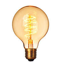 220V E27 40W Incandescent Bulbs Filament Light Vintage Retro Antique G80 Wire Wrap Industrial Style Lamp Bulb Tungsten BulbLight
