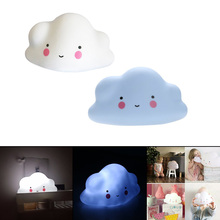 Novelty Cloud Smile Face Night Light Children Bedroom Nursery Night Lamp Mini Cloud Light Emitting Children Room Decor
