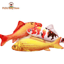 plush fish toy stuffed soft goldfish pillow cushion cute simulation animal toy kids toys gift for children(China)